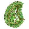 Motif Sequin/beaded 4.8x7.5cm (2pcs) Peridot